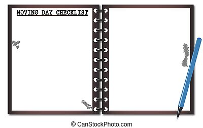 Moving Day Checklist Notepad