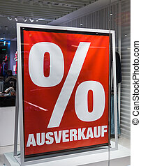 sale commercially - in a display window of a store is made...