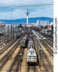 shunting in vienna - freight trains on shunting in vienna....