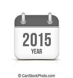 2015 Year Vector Calendar App Icon With Reflection Chinese...