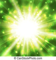 Abstract glowing vector background. Star light with flares...
