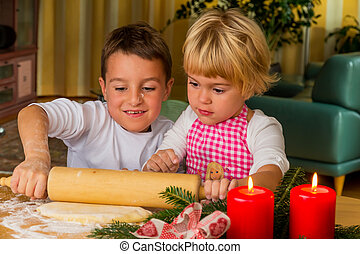 children baking cookies for christmas cookies for the...