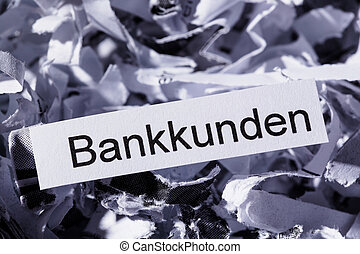 shredded paper banking customers