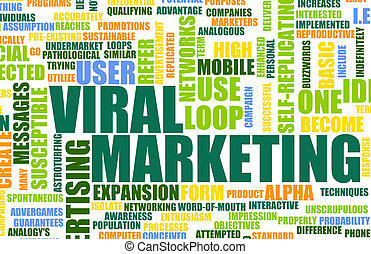 Viral Marketing Creative Concept as Abstract Art