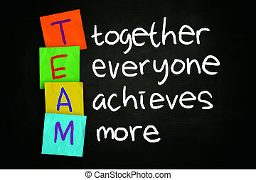 Team Concept - The words TEAM together everyone achieves...