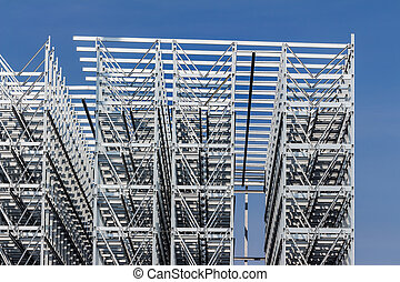 construction of a bay warehouse - a high bay warehouse of a...