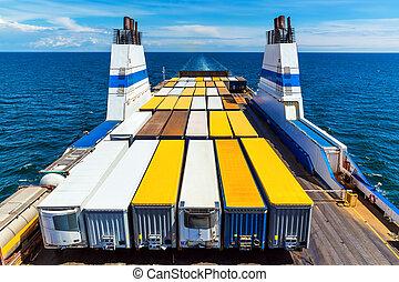 carga, transbordador,