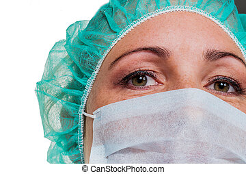 op nurse - a nurse or doctor in surgical clothes before...