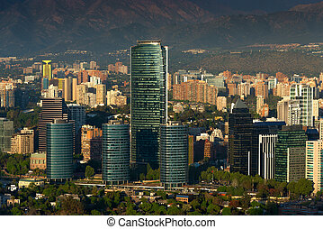 Santiago de Chile - View of Santiago de Chile with Titanium...