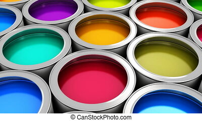 Color paint cans - Abstrac