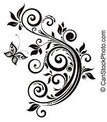 Floral black design