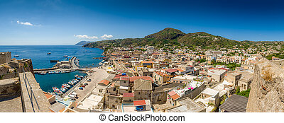 Lipari pamorama - Lipari island and city high definition...
