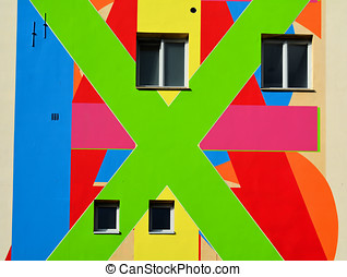 abstract facade of a house in Berlin