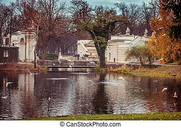 Lazienki Park - WARSAW CITY, POLAND - November 11: Lazienki...