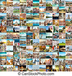 travel photos from Europe - Collage of travel photos from...