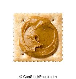 Peanut Butter on a Saltine Cracker
