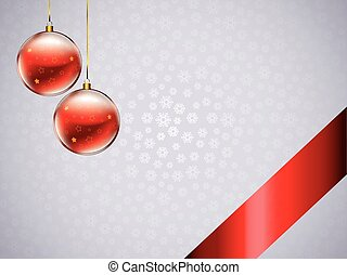 christmas decor_01 - christmas decor with balls, bow, ribbon...