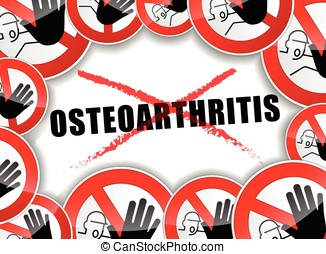 no osteoarthritis concept - illustration of no...