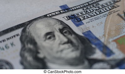 dollars banknote - banknote of hundred dollars