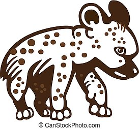 Hyena cub - vector illustration of a cute hyena cub
