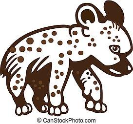 Hyena cub - vector illustration of a cute hyena cub