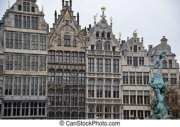 Antwerp - Old houses in Antwerp