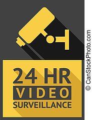 security camera - Flat sticker security camera 06, vector...