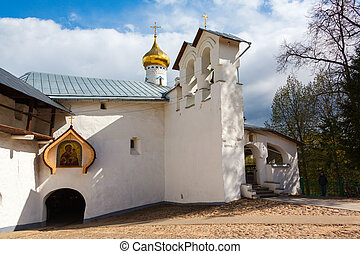 orthodox Saint Nicholas gate church in Pechory