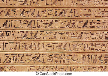 Egyptian hieroglyphs background - Egyptian hieroglyphics...
