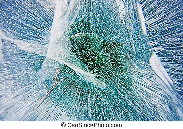 Ice texture - Winter Baikal. Texture of ice on the winter...