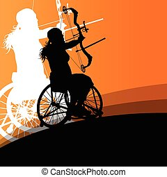 Active disabled young women in a wheelchair detailed health care