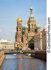 View of Church of the Savior on Spilled Blood,...