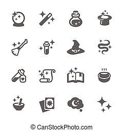 Magic Icons - Simple Set of Magic Related Vector Icons for...
