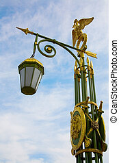 Bridges of St.Petersburg. Streetlamp on Panteleymonovsky...