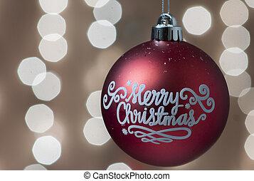 つけられる, 装飾, 木, クリスマス, 背景