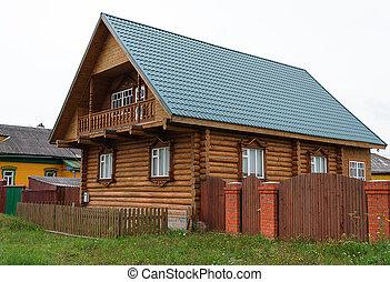 Beautiful new log house