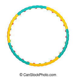 hula hoop - color hula hoop on a white background