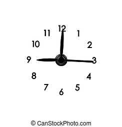 clock dial - classic clock dial on a white background