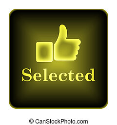 Selected icon. Internet button on white background.