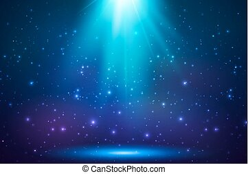 Blue shining top magic light background - Blue shining top...