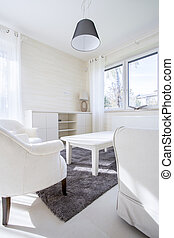 White furnitures in modern room