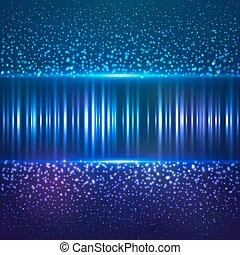 青, 星, ほこり, abctract, ベクトル, 背景,