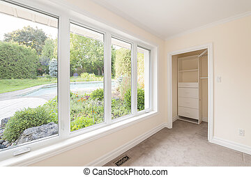 Large window in bedroom - Large window in empty bedroom...