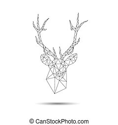 Deer head abstract isolated on a white backgrounds, vector...