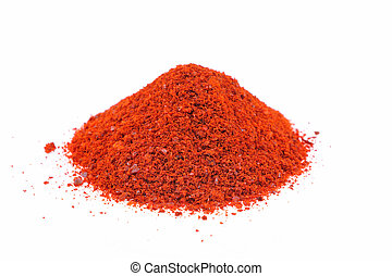 cayenne pepper flakes - ground cayenne pepper over the white...