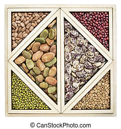 beans and lentils abstract - a variety of beans and lentils...
