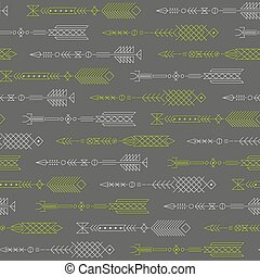 Seamless abstract pattern with stylized arrows.