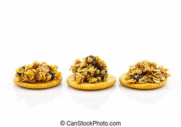 Healthy cereal cracker.