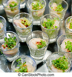 Appetizers and finger food-closeup