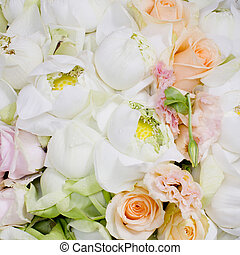 flowers bouquet arrange for decoration in wedding ceremony